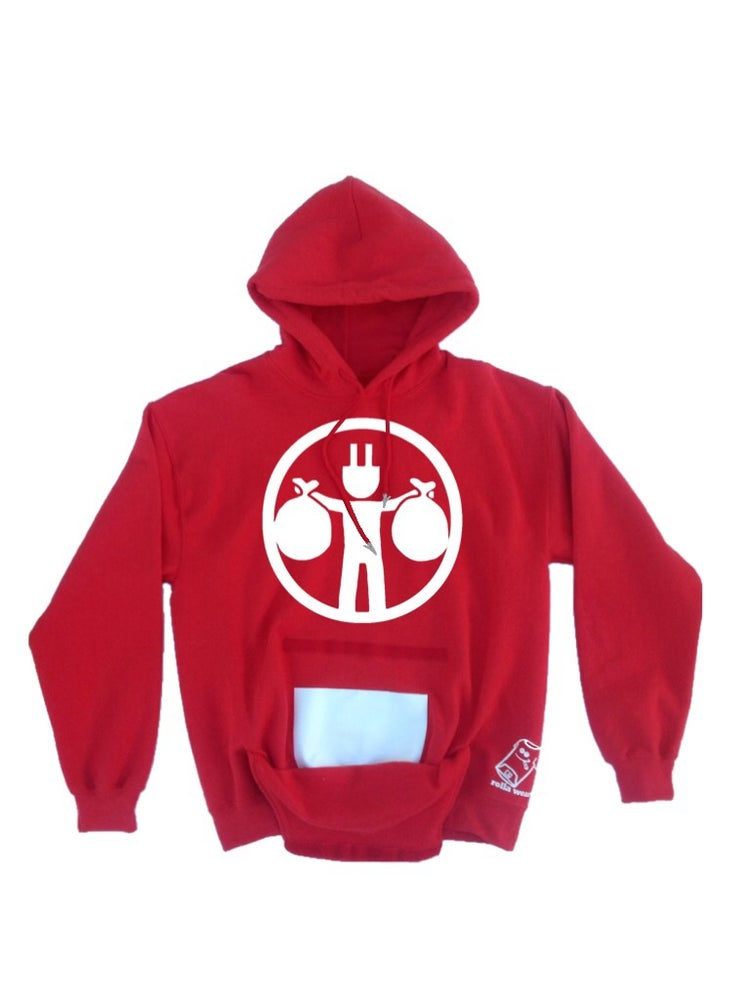 Image of Rolla Wear hoodie (plug red)