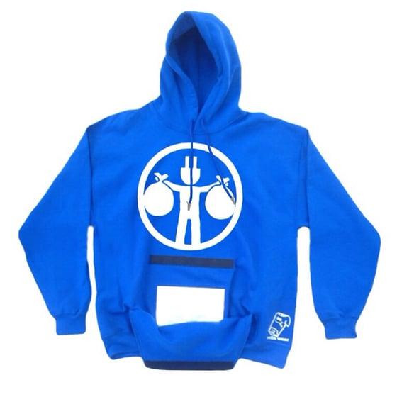 Image of Rolla wear hoodie (blue plug)