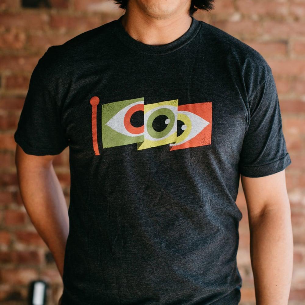 Image of Eyeflag Shirt - Color on Grey