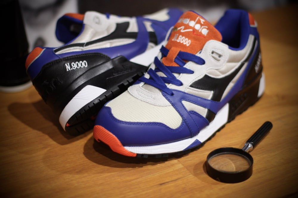 Image of DIADORA N9000 WINY GREY IMPERIAL BLUE