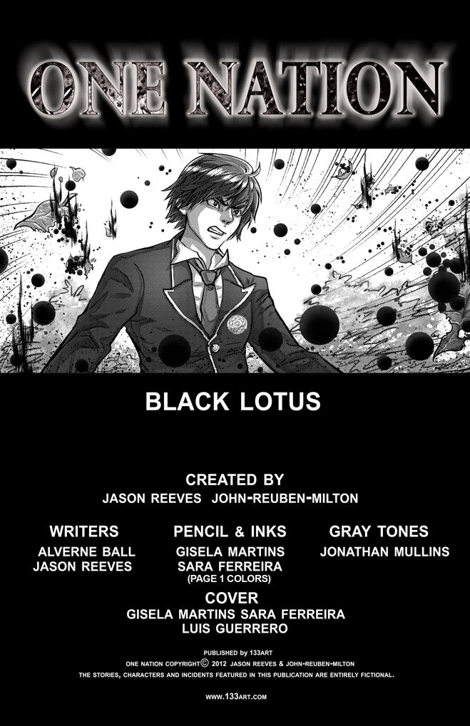 Image of OneNation: Black Lotus [print Comic]