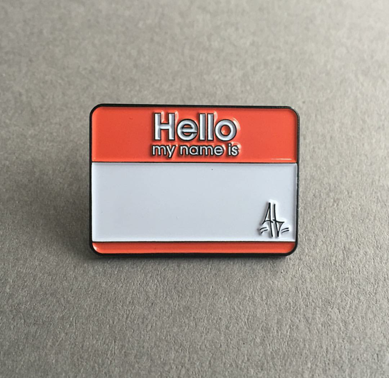 Image of HELLO MY NAME IS lapel pin