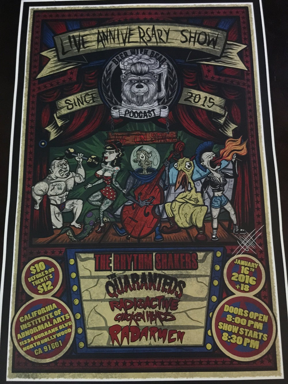 Image of 12 by 18 inch event poster (original art by Olaf Ace)