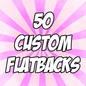 "Image of 50 custom 1"" flatback buttons"