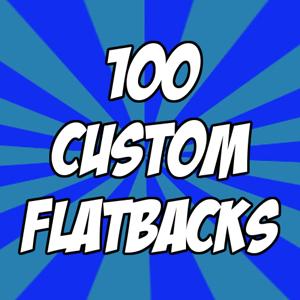 "Image of 100 custom 1"" flatback buttons"