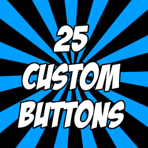 """Image of 25 custom 1"""" pinback buttons"""
