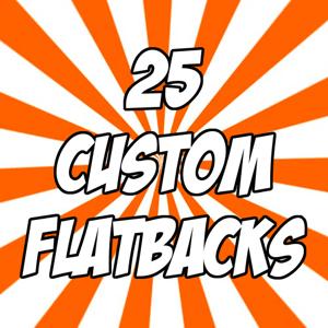 "Image of 25 custom 1"" flatback buttons"