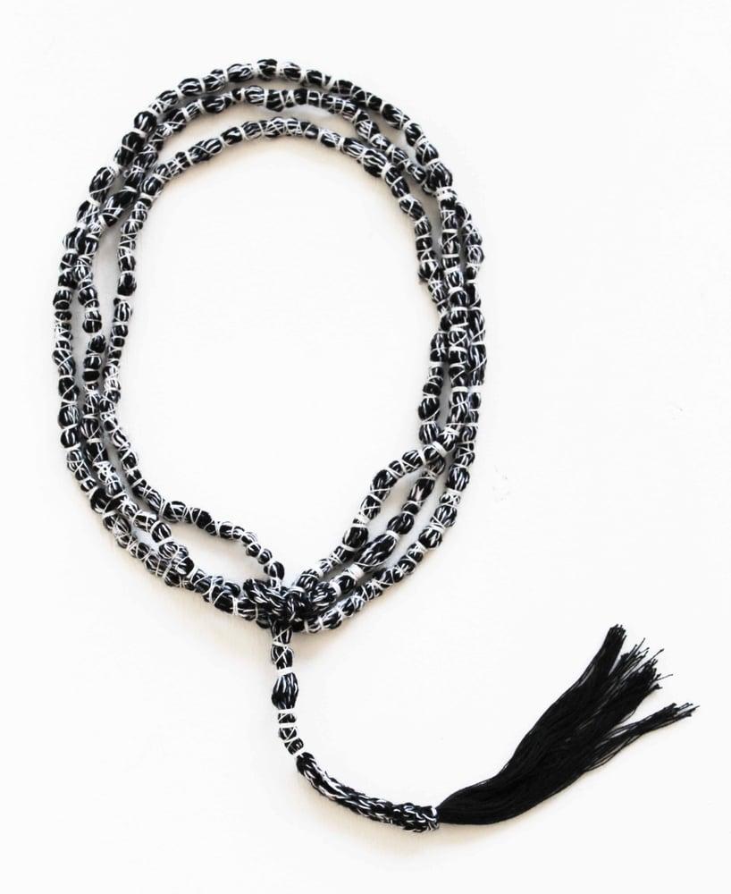 Image of Rope Tassel Necklace - black
