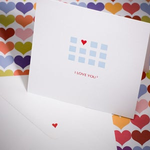 """Image of Letterpress Love you """"squared"""" (or 2)"""