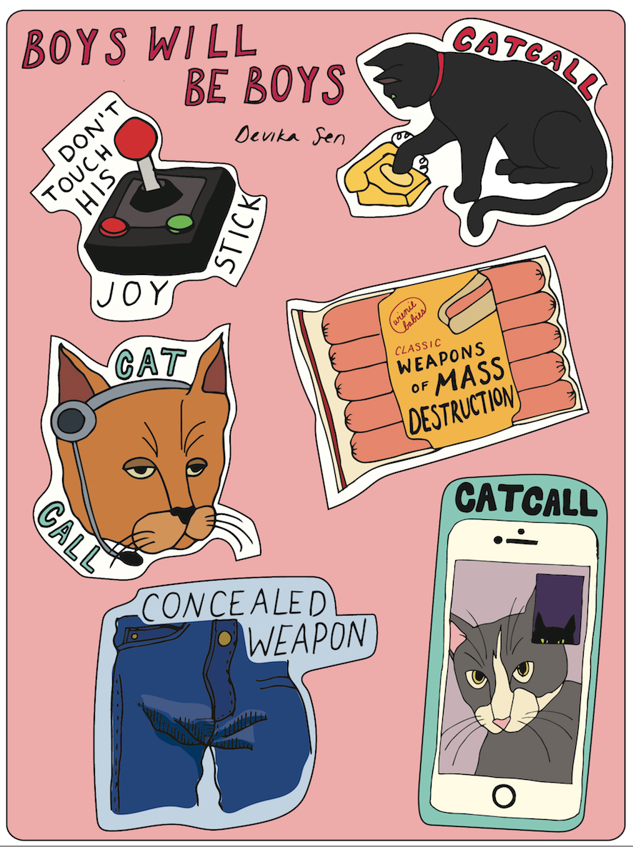 "Image of ""Boys Will Be Boys"" Sticker Sheet"