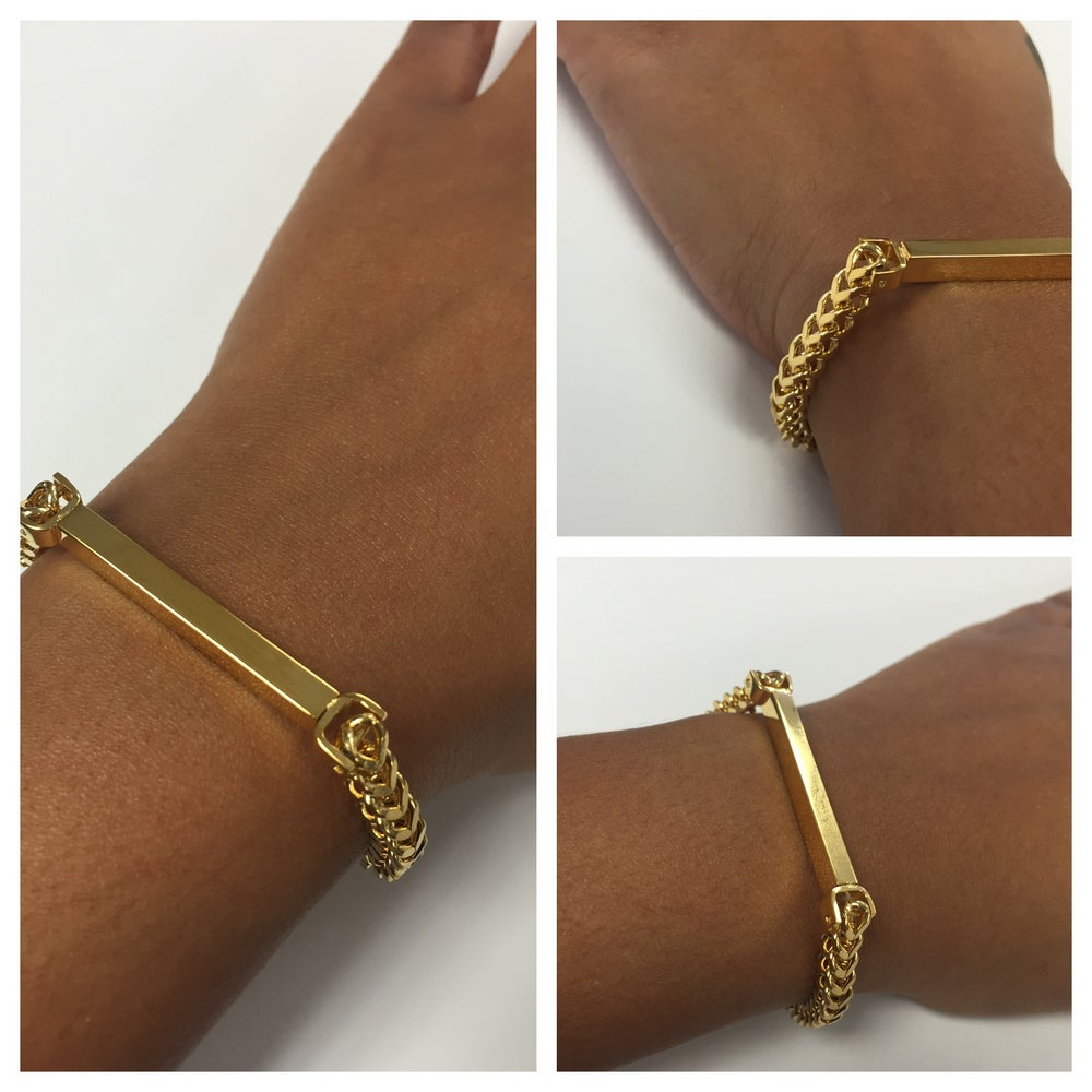 Image of Bar Chain bracelet (engraving available below)