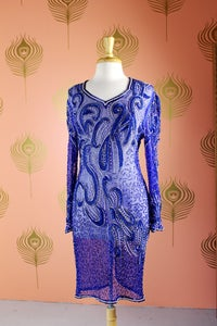 Image of Embellished Silk Dress