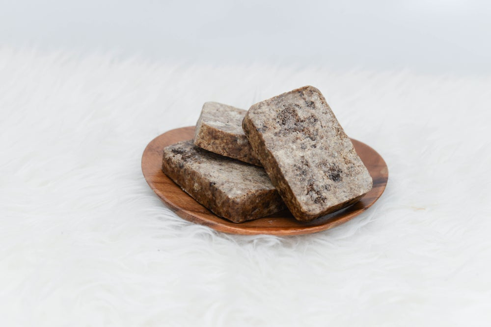 Image of Kate Lynn & Adwoa Black Bar Soap with Shea Butter