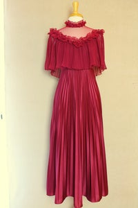 Image of Lace Merlot Gown