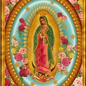 Image of FF Our Lady Of Guadalupe Fabric 863r12 COTTON FABRIC QUILT FABRIC