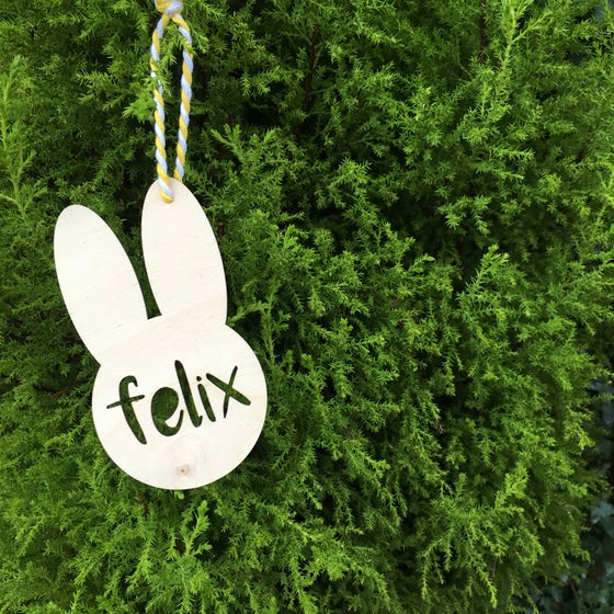 Image of PERSONALISED BUNNY KEEPSAKE