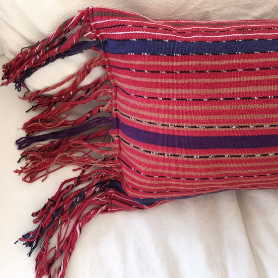 Image of Vintage Guatemalan Tzute Pillow