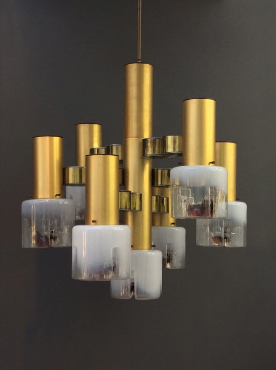 Image of Chandelier with Murano Shades
