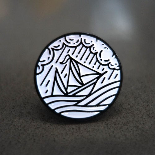 "Image of ""Stormy Seas"" Pin"