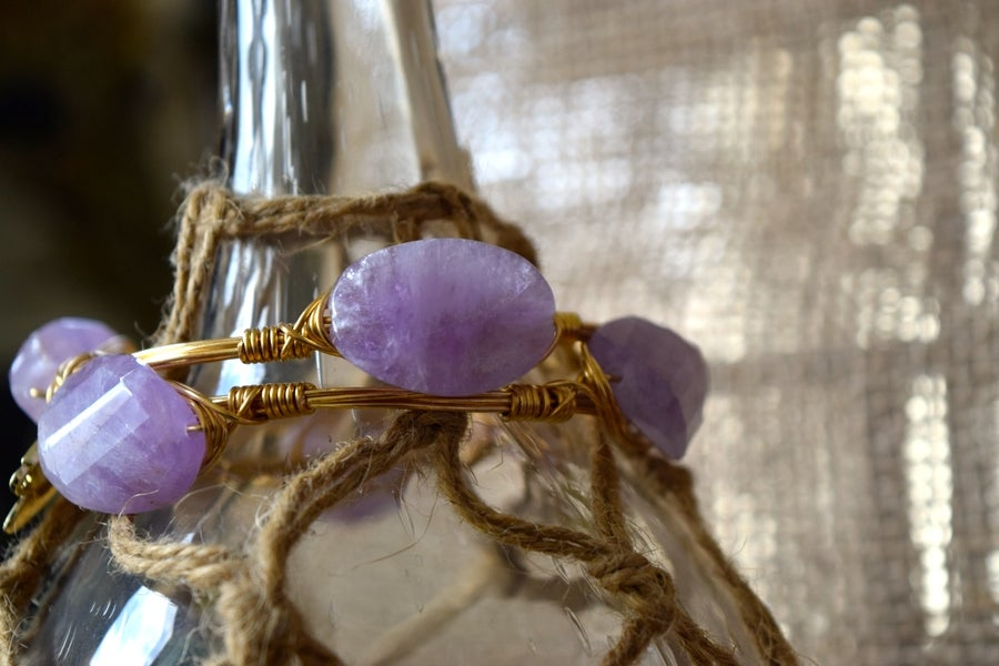 Image of Amethyst Twist Bangle