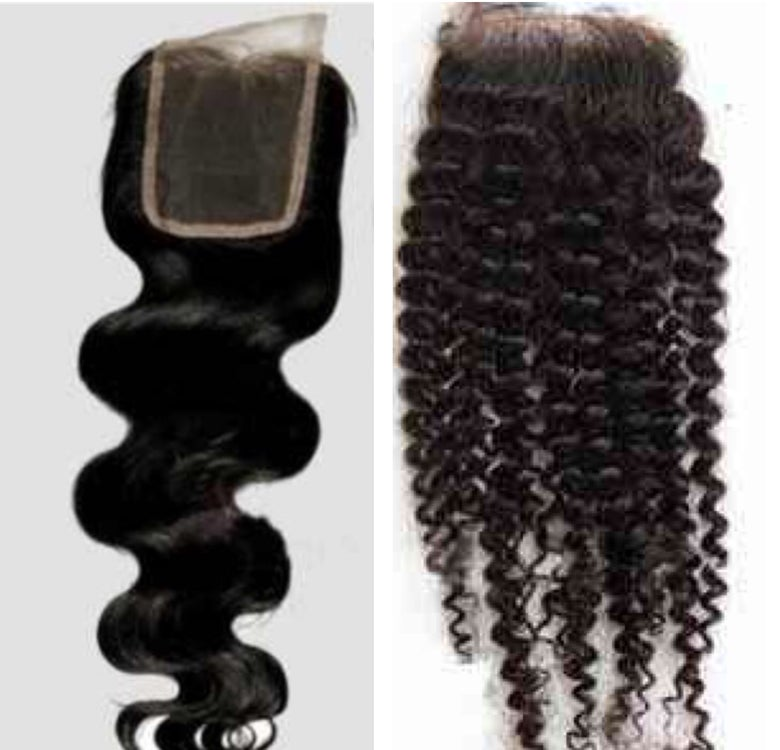 Image of Lace Body Wave Closure - Lace  Malaysian Curly Closure