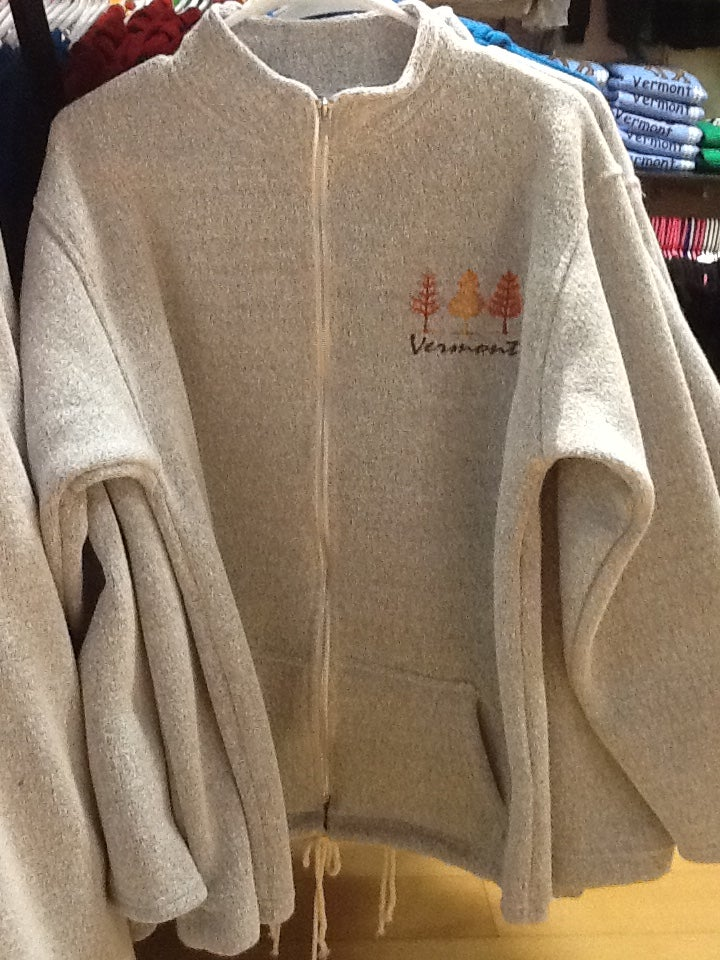 Image of VT Emb Nantucket Full Zip with tree embroidery