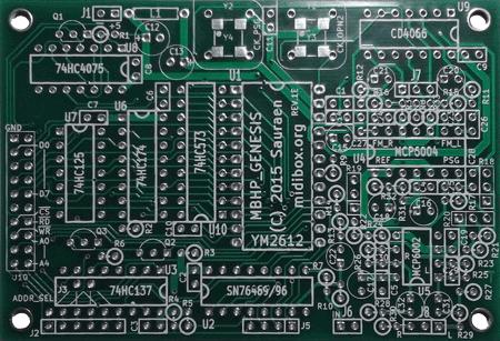 Image of MIDIbox Genesis Board