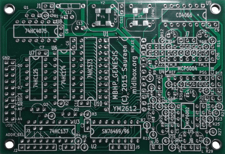 Image of MIDIbox Genesis Board