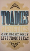 Toadies : Heretics Poster