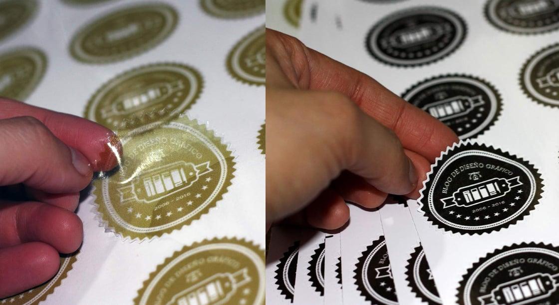 Image of 10 Stickers en impresión y corte en vinil