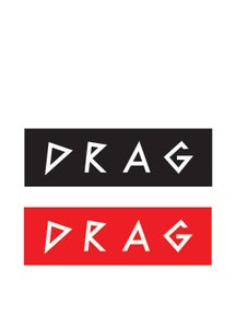 Image of DRAG <br /> DIE CUT STICKER