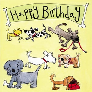 Image of Dogs Birthday Card