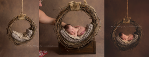 Image of PNW Uniquely Hand Crafted, Newborn Grape Vine Hammock/Dream Catcher