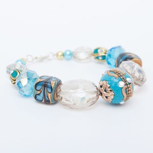 Image of Aqua & Gold Bracelet