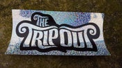 Image of Trip Out Glitter Sticker - Silver