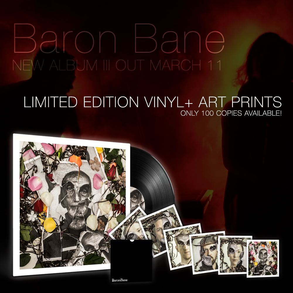 Image of Baron Bane - III (Black LP/6x Art Hand Print/Download Code)