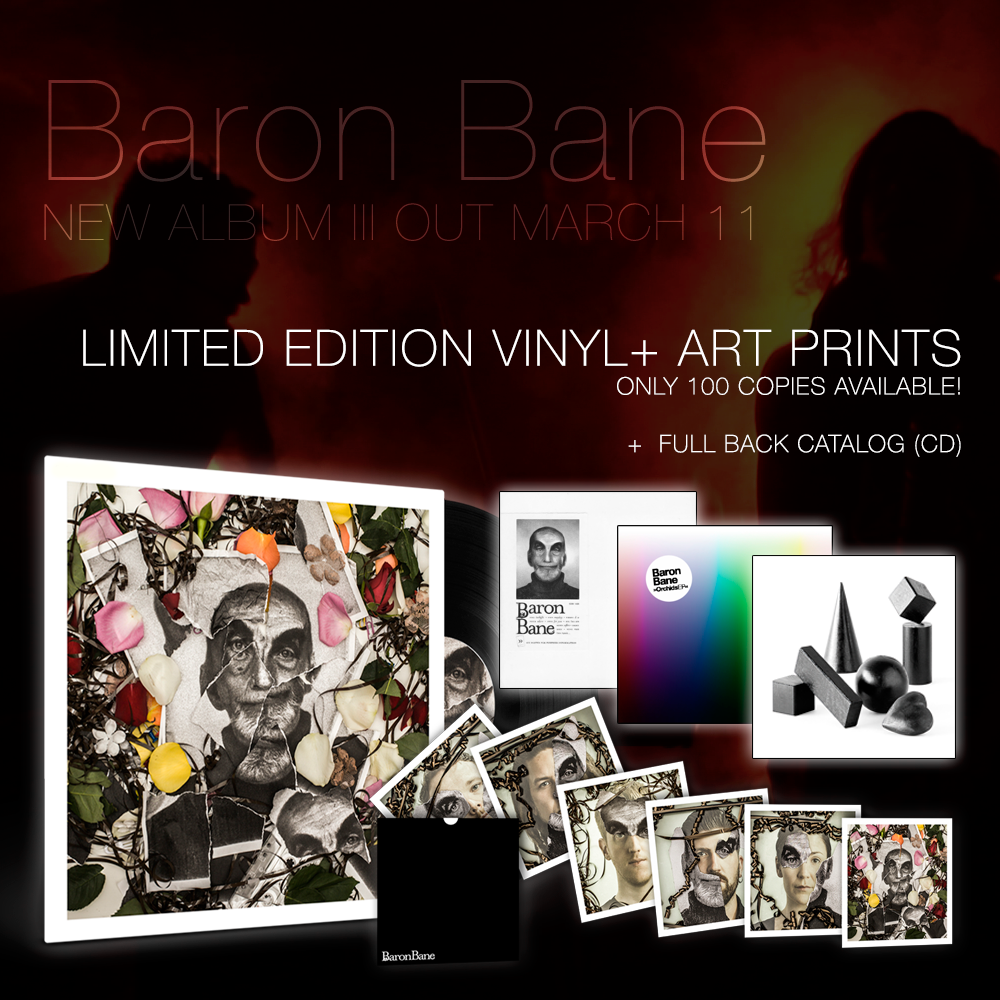 Image of Baron Bane - III (black vinyl LP + art prints + CD back catalog)
