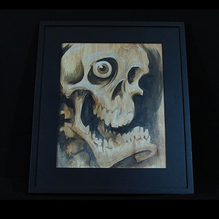 Image of Wood Skull
