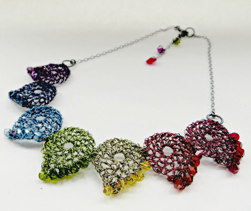 Image of Paisley rainbow wire necklace