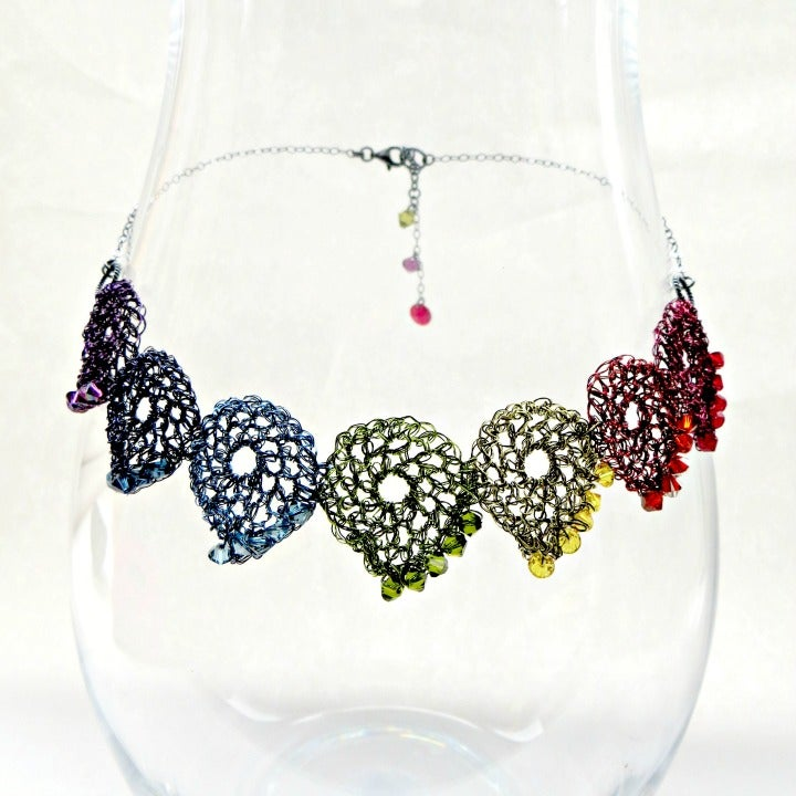 Image of Boteh Rainbow Necklace