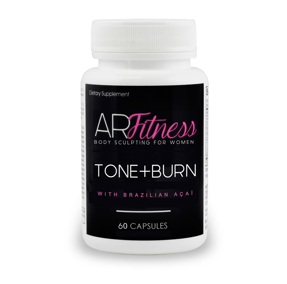 Image of AR Fitness TONE+BURN 2-in-1 Fat Burner and Toner / 2-in-1 Quemador de Grasa + Tonificador