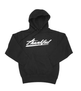 Image of THANKFUL SIGNATURE HOODIE (BLACK)