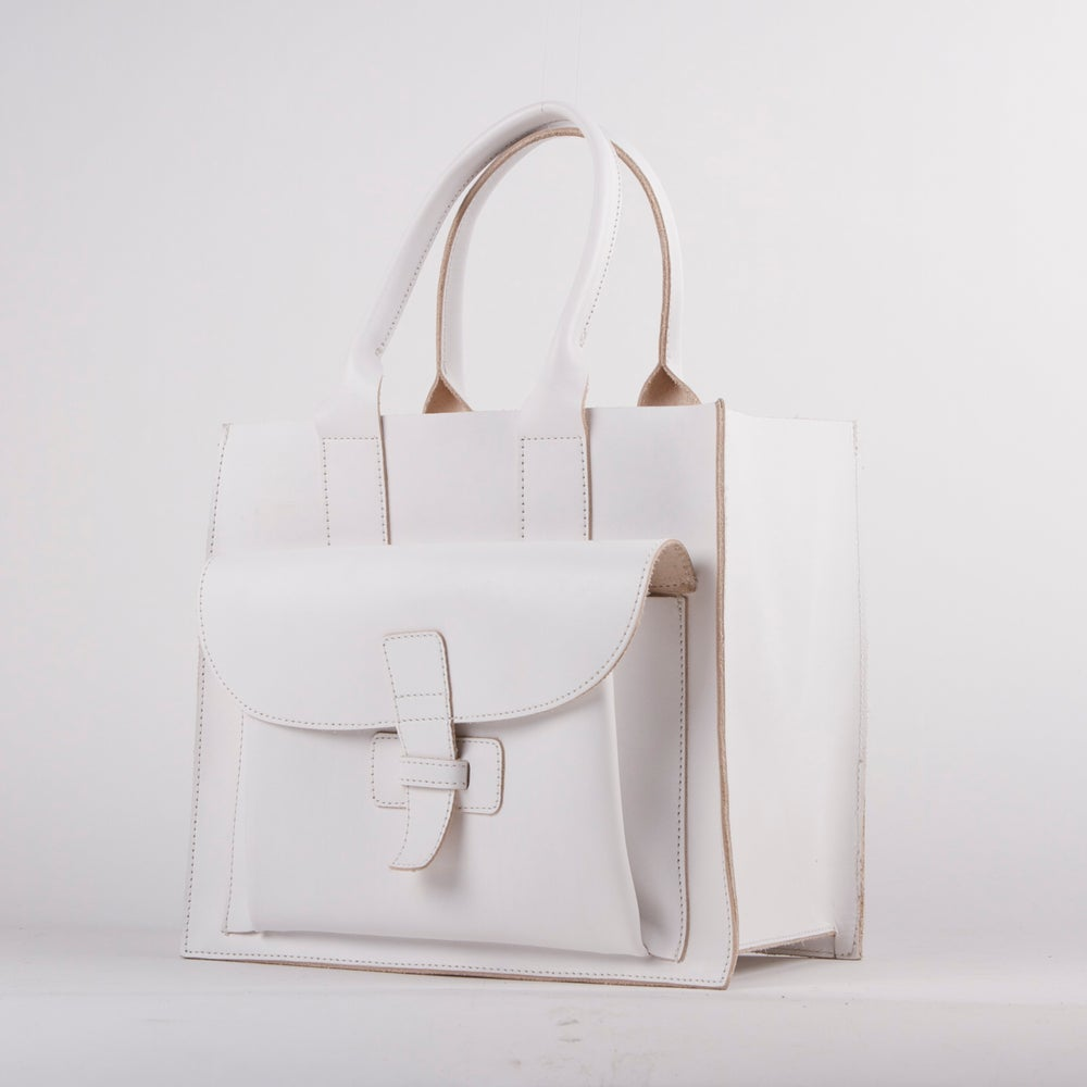 Image of Sac 2 / White Italian Leather