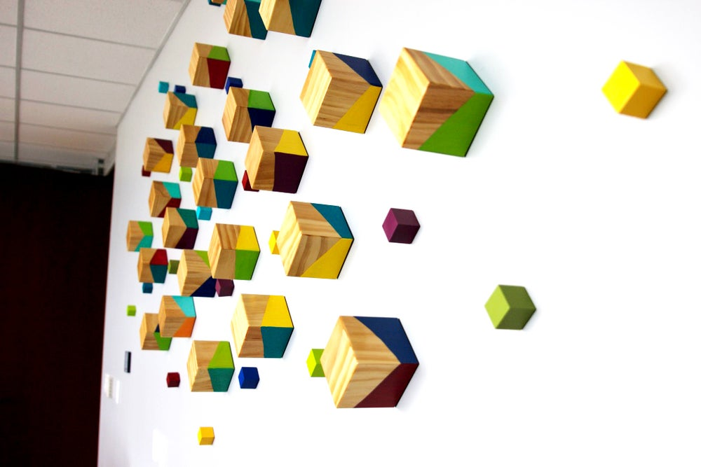 Image of 'PERSPECTIVES' | Custom Office Artwork | 3d Wall Sculpture | Hospitality Art | Commercial Wall Art
