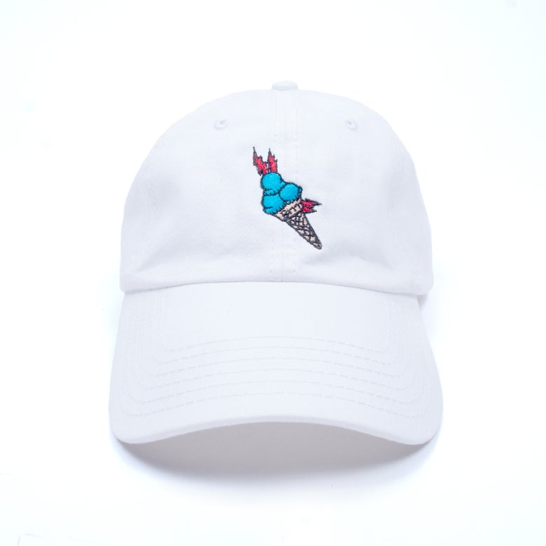 "Image of ""Brrr"" Low Profile Sports Cap - White"