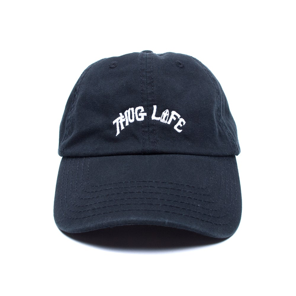 Image of Thug Life Low Profile Sports Cap - Black