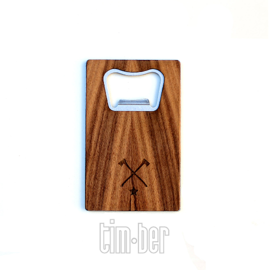 Image of TIMBER Wood Skin Wallet Bottle Opener