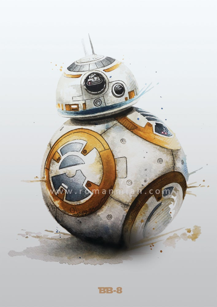 Image of BB-8 Star Wars Poster Print