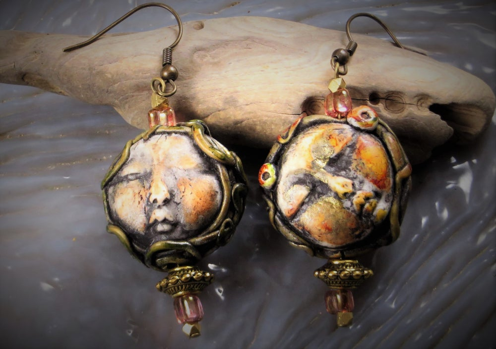Image of  Isis and Nephthys- Twin Goddess Earrings