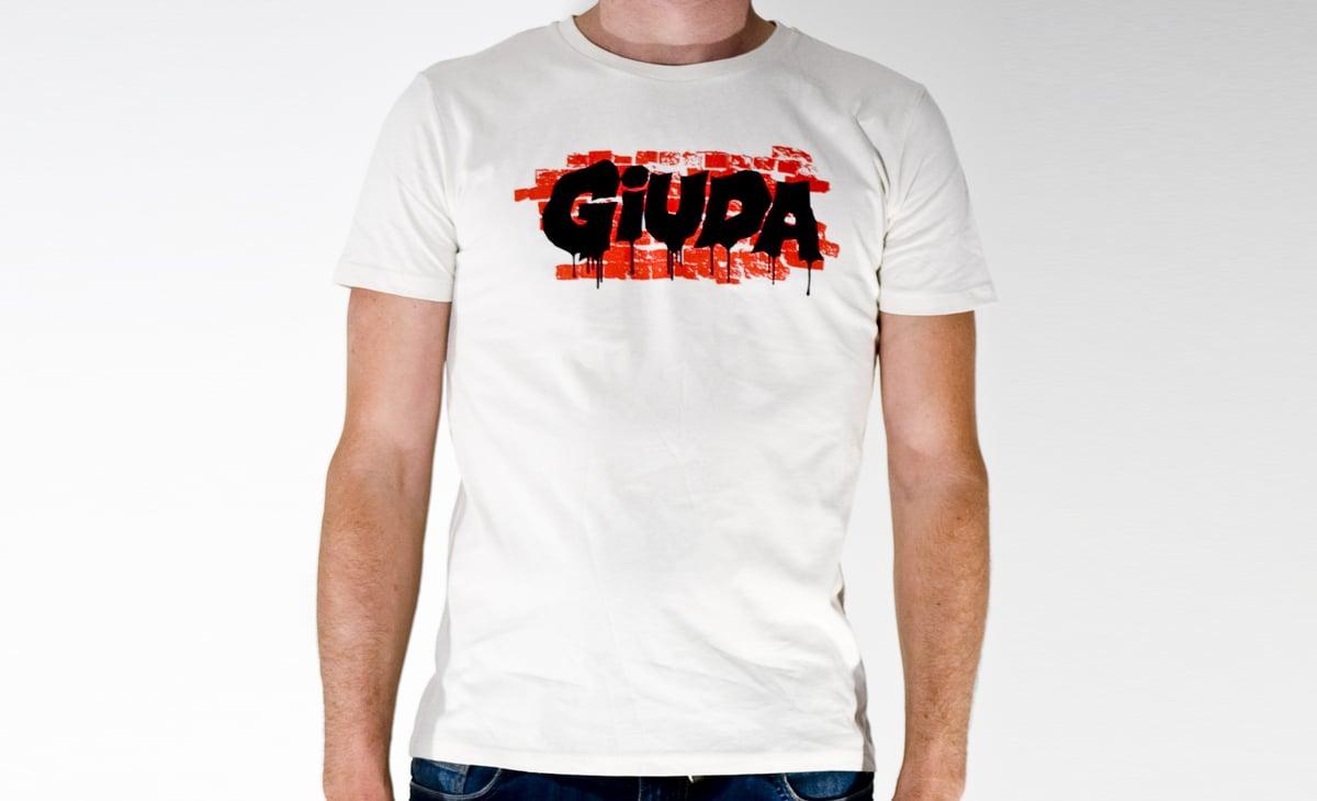 Image of T-shirt Giuda Speaks Evil Logo